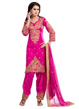 Hot Pink Salwar Suit