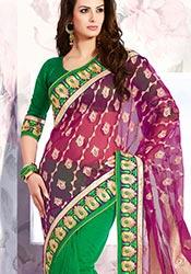 Ideal Art Silk N Net Jacquard Saree