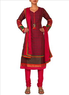 Ideal Pink Churidar Suit