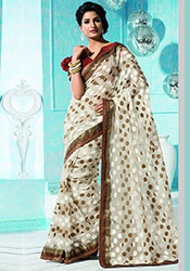 Jacquard Supernet Saree