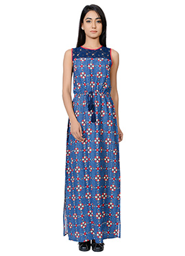 Juniper Blue Printed Maxi Dress