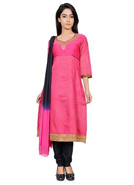 Juniper Fuchsia Pink Anarkali Suit