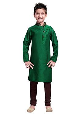 k And U Green Kurta Pyjama