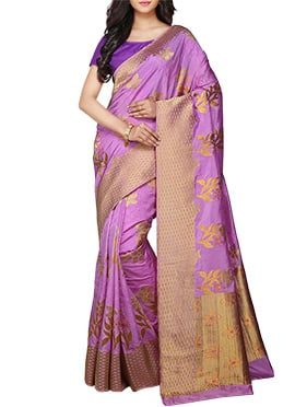 kancheepuram Art Silk Lavender Saree