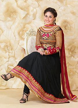 Kareena Kapoor Black Ankle Length Anarkali Suit