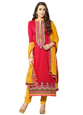 Karisma Kapoor Hot Pink Straight Suit