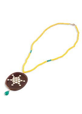 Karmic Kabira Yellow Semi Precious Beaded Necklace