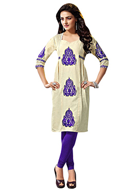 Khadi Cotton Cream Kurti