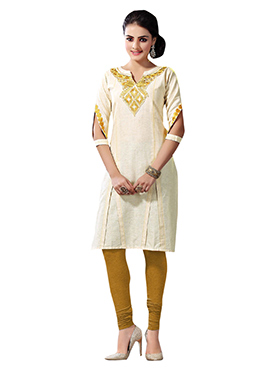 Khadi Cotton Embroidered Kurti