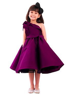 Kidology Magenta Fairytale One Shoulder dress