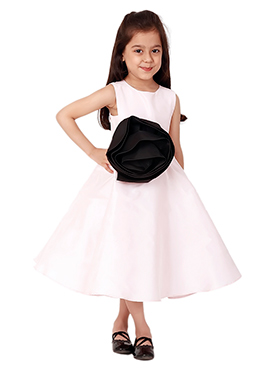 Kidology Pink Spiral Rose Dress