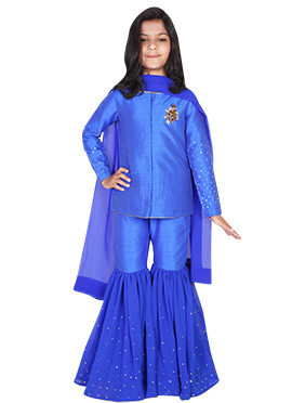 Kids Chiquitita Blue Sharara Set