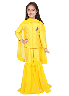 Kids Chiquitita Yellow Sharara Set