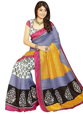 Kritika Kamra Multicolored Printed Saree