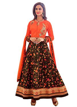 Krystle Dsouza Printed Anarkali Suit
