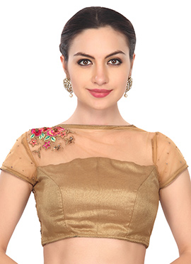Ks Couture Beige Embroidered Blouse