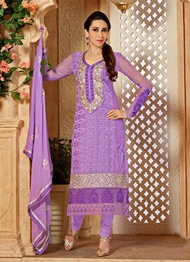 Lavender Karisma Kapoor Straight Suit