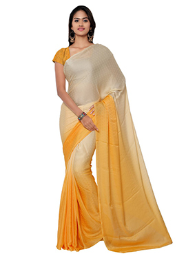 Light Beige N Yellow Saree