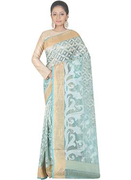 Light Blue Handloom Tissue Saree