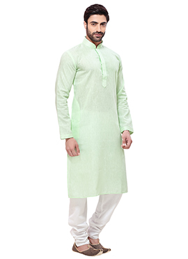 Light Green Cotton Kurta Pyjama