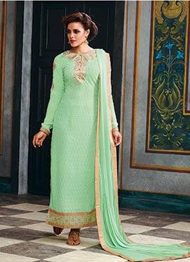 Light Green Georgette Pakistani Suit