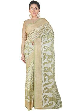 Light Green Handloom Tissue Saree