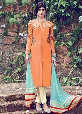 Light Orange Palazzo Suit