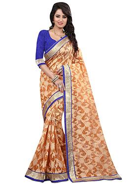 Light Orange Saree