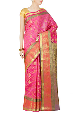 Light Pink Art Kanjivaram Silk Saree