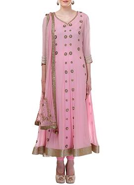 Light Pink Moonlight Anarkali Suit