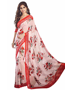 Light Pink Printed Saree