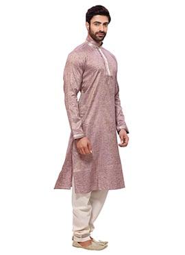 Light Purple Cotton Kurta Pyjama