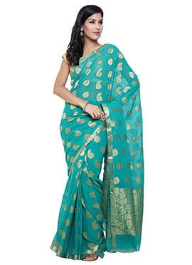 Light Sea Green Silk Saree