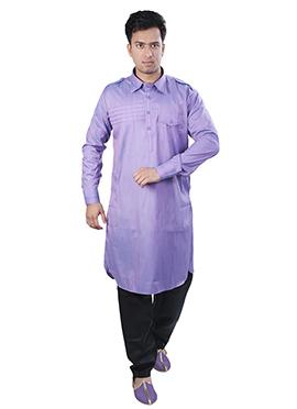 Light Violet Pathani Suit