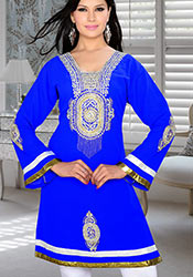 Lively Blue Georgette Kurti