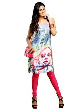 Maybell Multicolored Printed Kurti