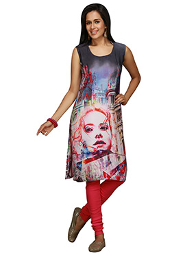 Maybell Printed Multicolored Kurti