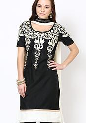 Mesmeric Chanderi Plus Size Churidar Suit