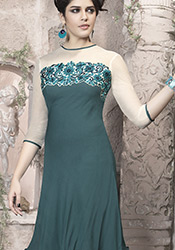 Mind-blowing Green Georgette Tunic