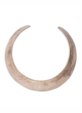 Moon Shaped Off White Neck Piece