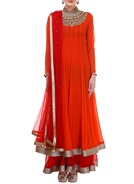 Moonlight Layered Ankle length Anarkali Suit