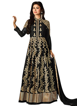 Mouni Roy Black Anarkali Suit