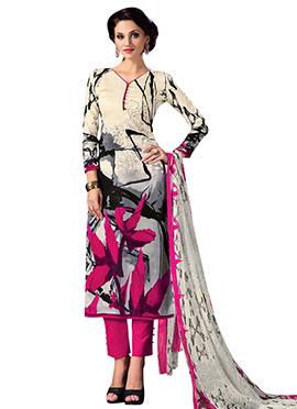 Multi-coloured Cotton Straight Pant Suit