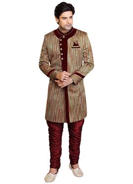 Multicolor Breeches style Sherwani