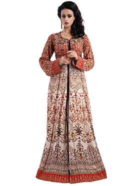 Multicolored Anarkali Gown