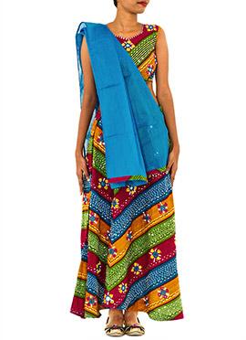 Multicolored Cotton Chaniya Choli