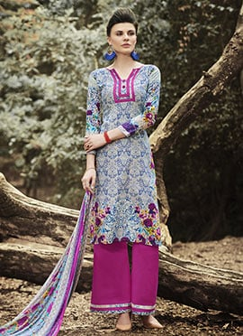 Multicolored Cotton Printed Palazzo Suit