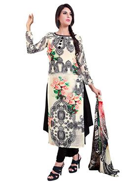 Multicolored Georgette Salwar