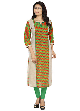 Multicolored Jute khadi Kurti