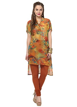 Multicolored Polyester Ethnic Kurti from Home Indi